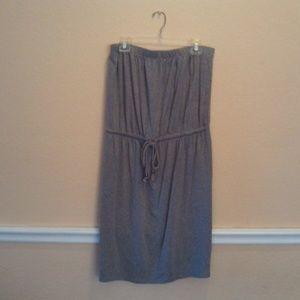 GAP Strapless Dress with tie waist size Large